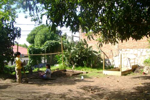 ¡Nuestro patio!